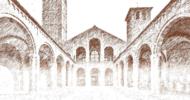 Cattedrale di Sant'Ambrogio realizzata a matita chiaro scuro su foglio bianco